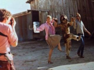 Dee Wallace, Gary Morgan i Lewis Teague na planie Cujo - obrazek