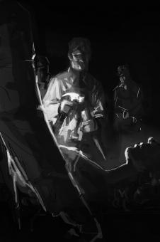 David Palumbo - The Bitter Waters - szkic - obrazek