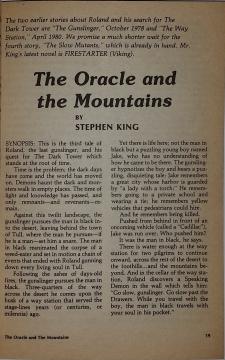 Fantasy & Science Fiction 2 1981 strona tytułowa noweli The Oracle and the Mountains