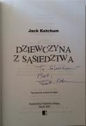 Dziewczyna z sąsiedztwa (Papierowy księżyc) - autograf Jacka Ketchuma