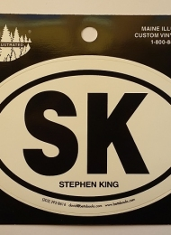 SK Stephen King - naklejka z Betts Books - obrazek