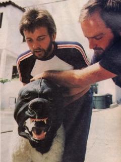 Przygotowania mechanicznego Cujo, wykorzystanego w scenie gdy uderza łbem w szyby samochodu - obrazek