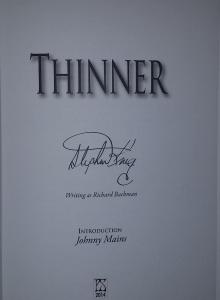 """Thinner"" 30th Anniversary Edition - faksymil Stephena Kinga - obrazek"