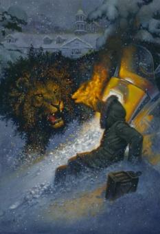 Don Maitz - Halloran and Lion - obrazek
