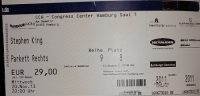 Spotkanie ze Stephenem Kingiem - bilet do CCH, Hamburg 20 listopad 2013