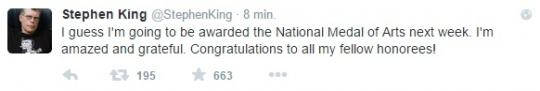 Stephen King - National Medal of Arts