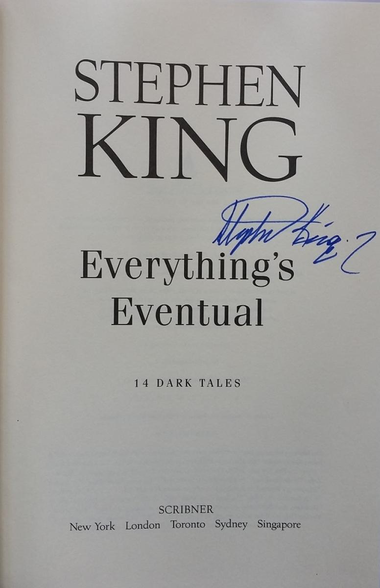 """Everything's Eventual"" - autograf Stephena Kinga - obrazek"