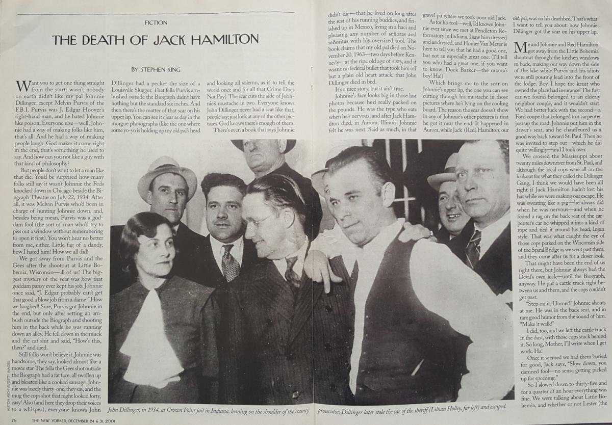 """""""The New Yorker"""" z opowiadaniem """"The Death of Jack Hamilton"""" - obrazek"""