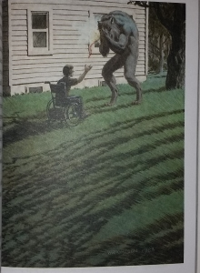 """""""Rok Wilkołaka"""" ilustracja Bernie Wrightsona z wydania Albatrosa - obrazek"""