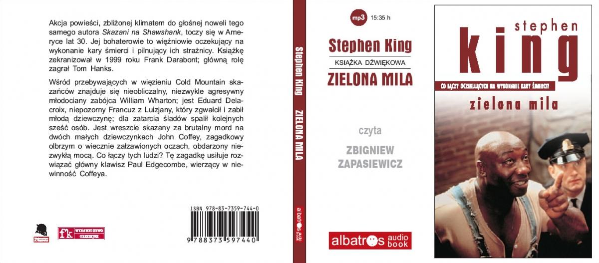 """""""Zielona mila"""" - audiobook - okładka - obrazek"""