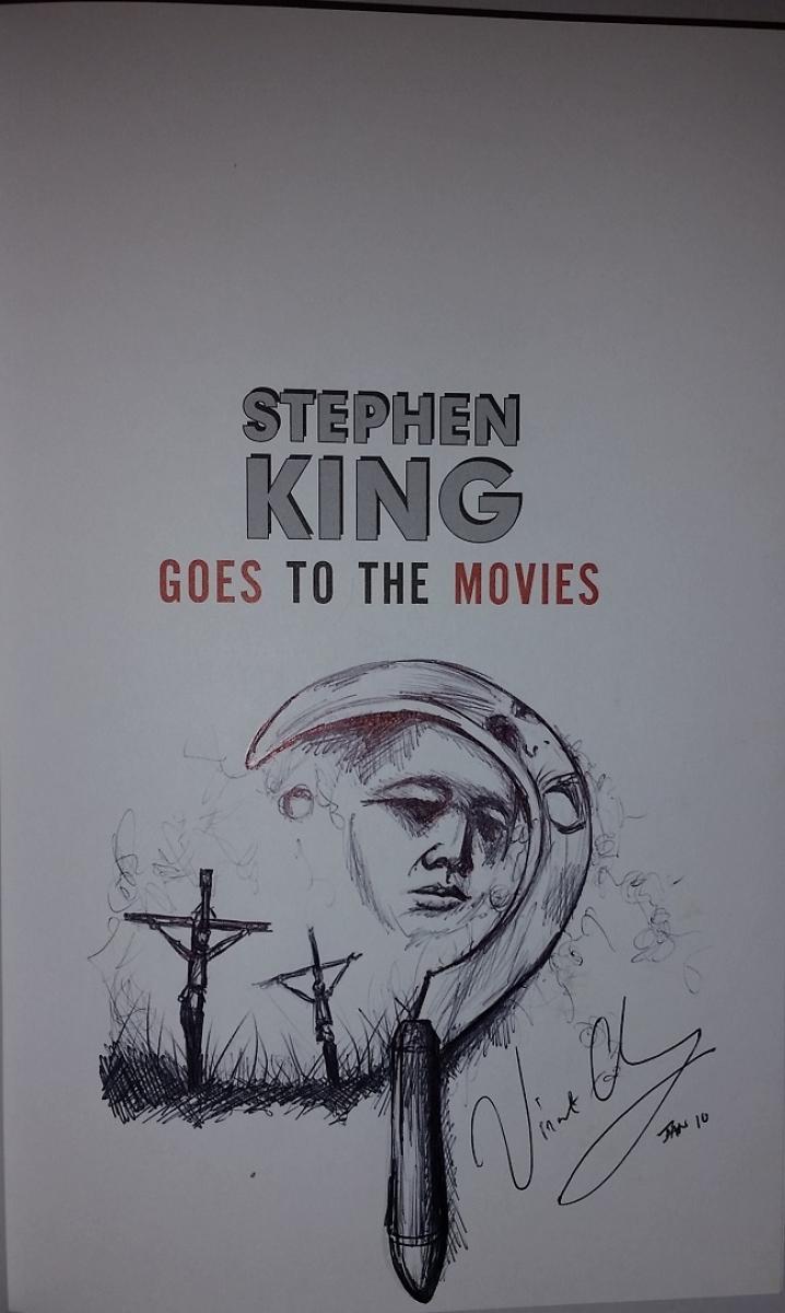 """Stephen King Goes to the Movies"" - rysograf Vincenta Chonga - obrazek"