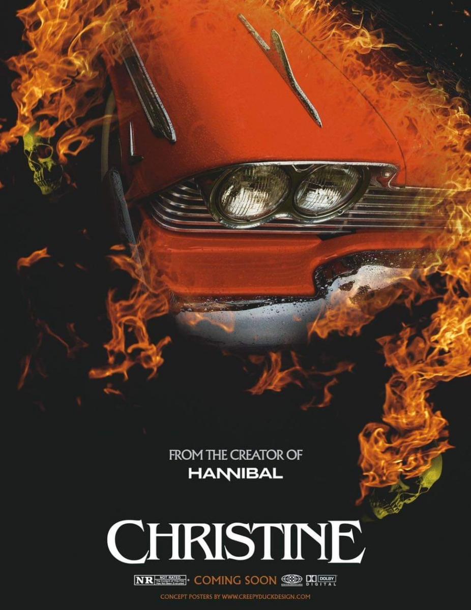 """""""Christine"""" - plakat poglądowy autorstwa Creepy Duck Design - obrazek"""