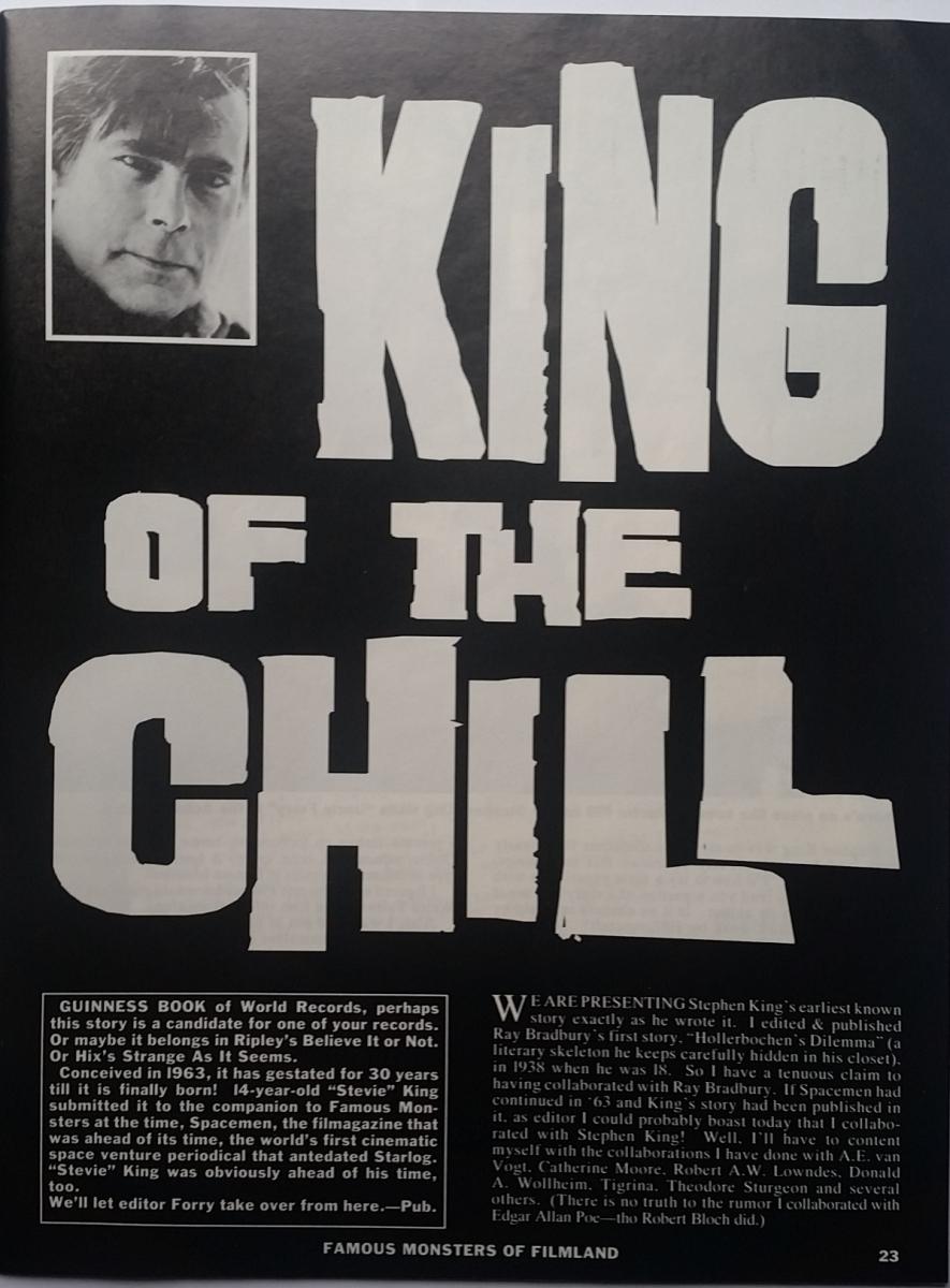 """""""Famous Monsters of Filmland"""" - tekst """"King of the Chill"""" - obrazek"""