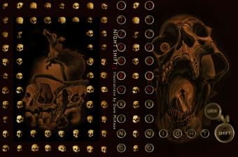 Nocna Zmiana - PS Publishing - obwoluta wariantu drugiego Gold Skull - obrazek