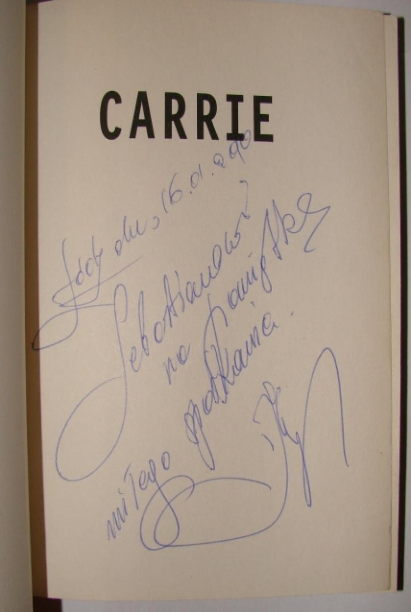 """""""Carrie"""" - autograf i dedykacja Jacka Kopalskiego - obrazek"""