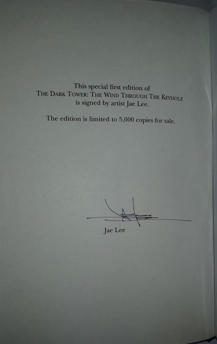 """""""The Wind Through the Keyhole"""" - strona z autografem - obrazek"""