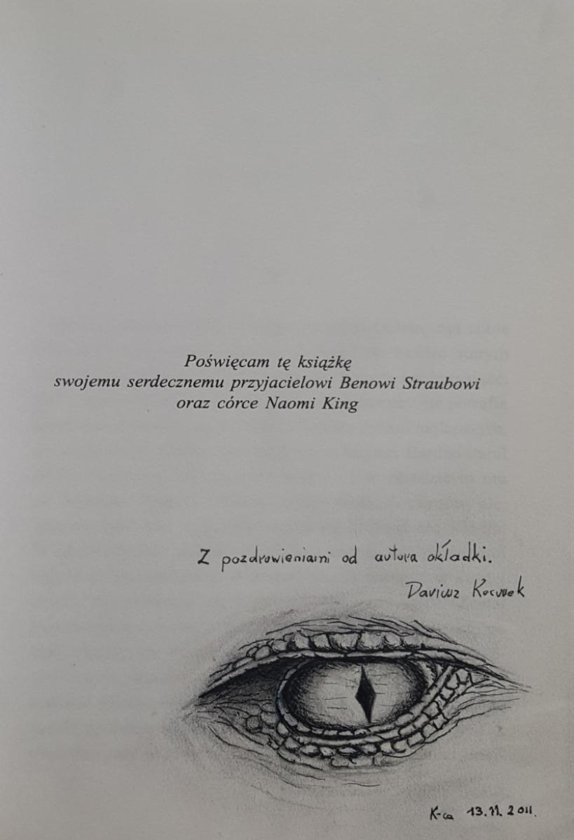 """Oczy smoka"" - rysograf i autograf Darka Kocurka - obrazek"