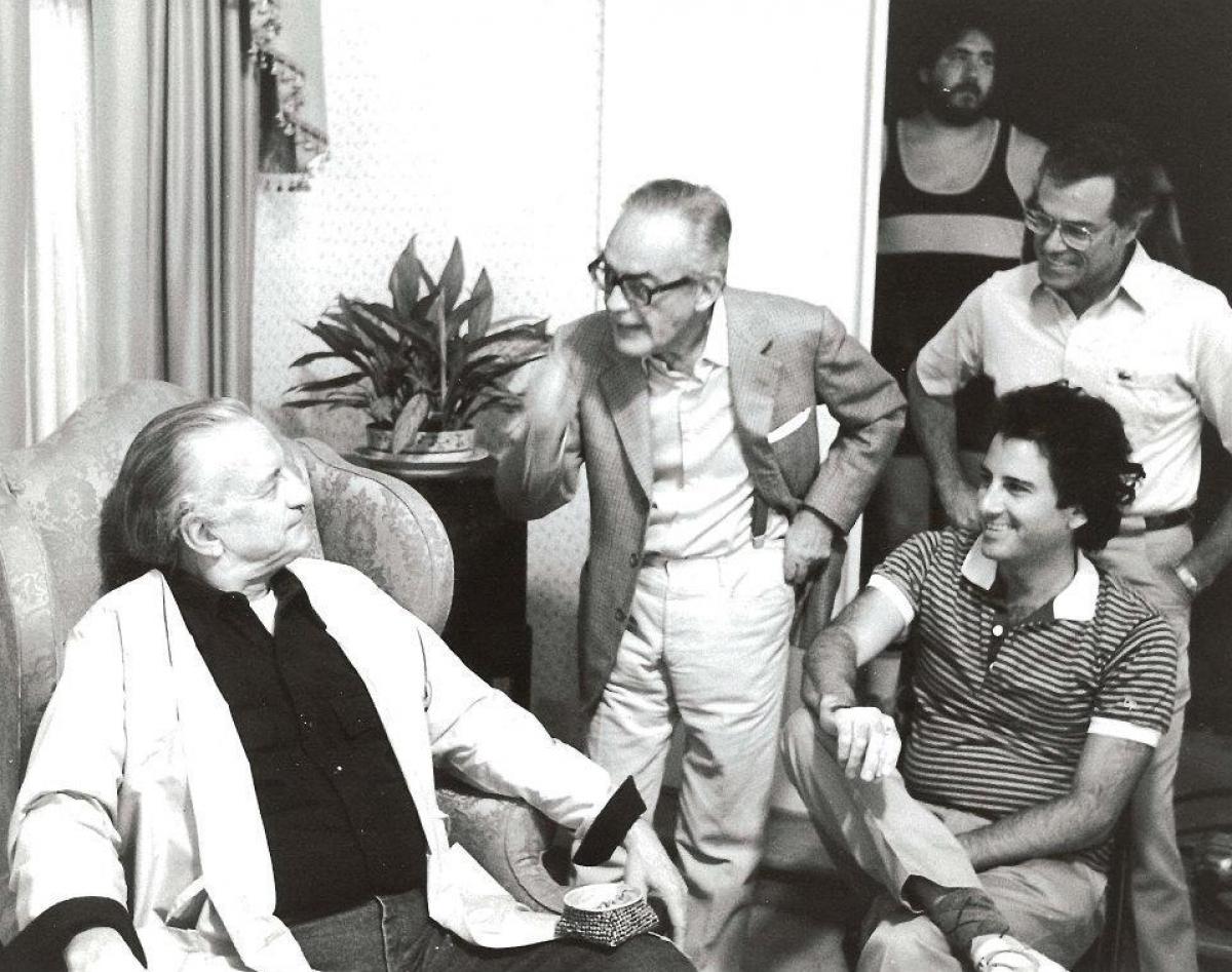 George C. Scott, Mark L. Lester, Dino DeLaurentis oraz Frank Capra - obrazek