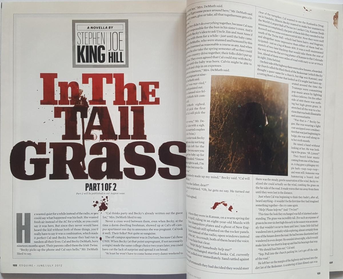 """""""Esquire"""" 6-7/2012 - opowiadanie """"In the Tall Grass"""" - obrazek"""