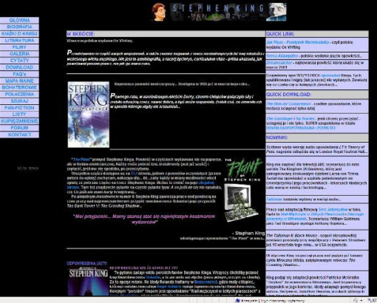 """""""Stephen King - Pan Grozy"""" - wersja serwisu po zmianach - obrazek"""