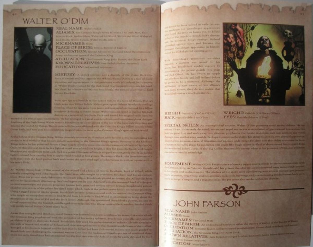 """""""The Dark Tower: Gunslinger's Guidebook"""" - przykładowa strona - obrazek"""