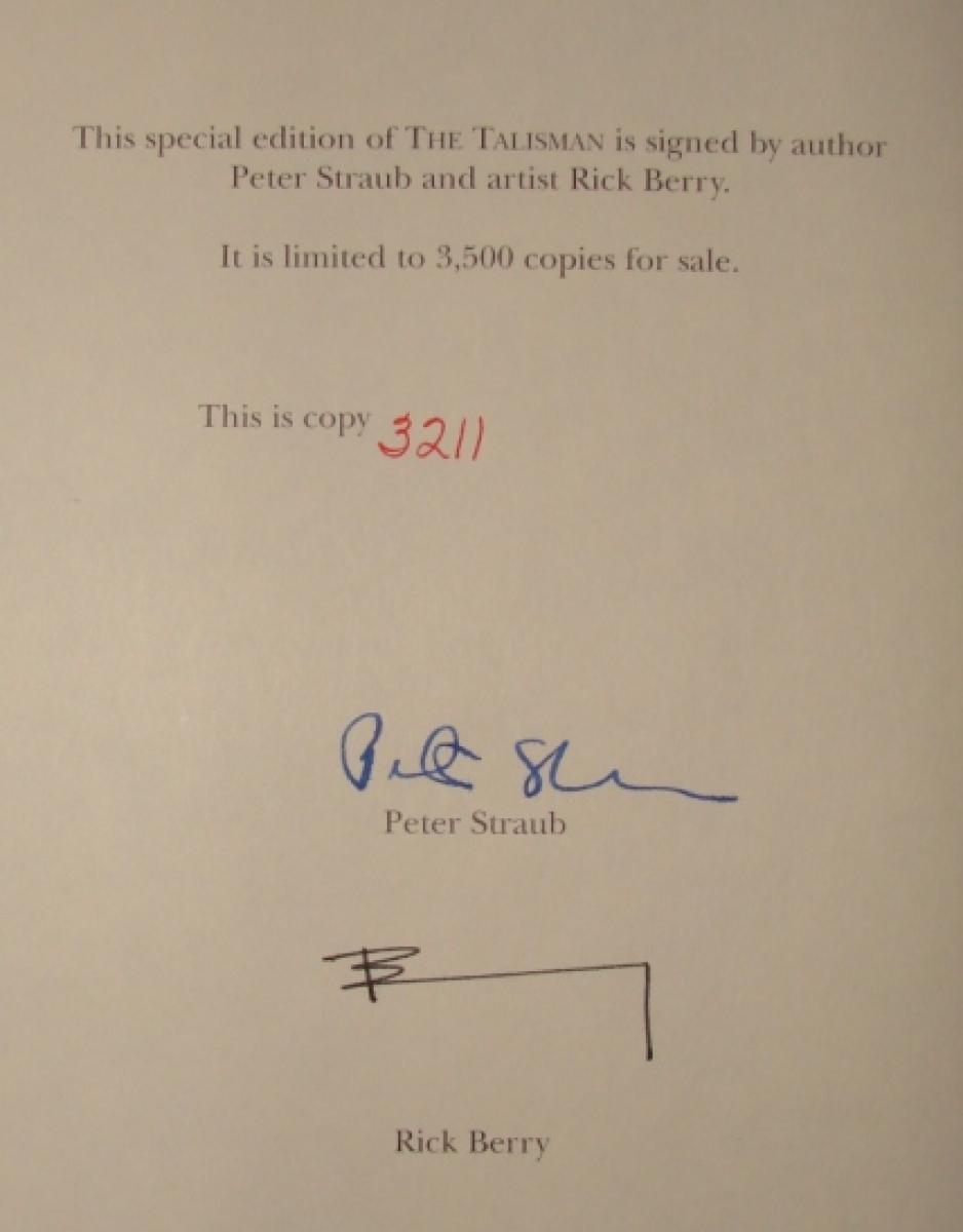 """The Talisman""/""Black House"" - strona z autografem Petera Strauba i Ricka Berry - obrazek"
