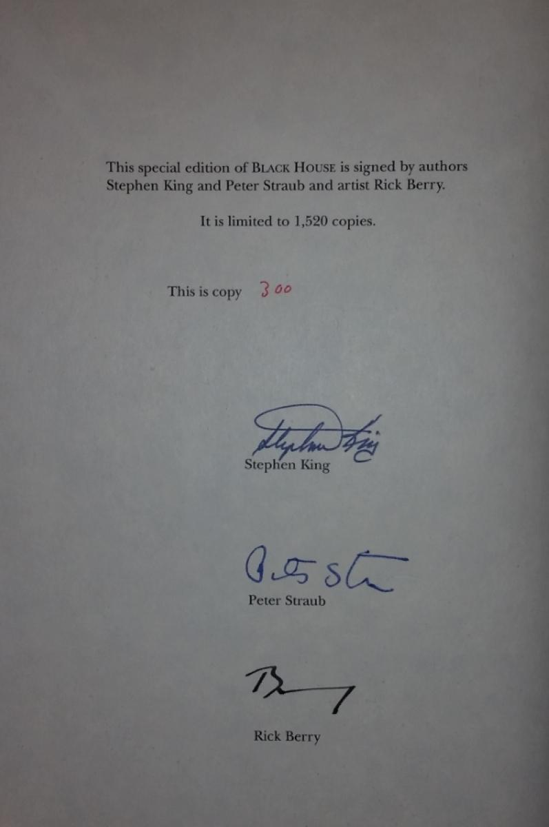 """Black House"" Deluxe Edition - strona z autografamia - obrazek"