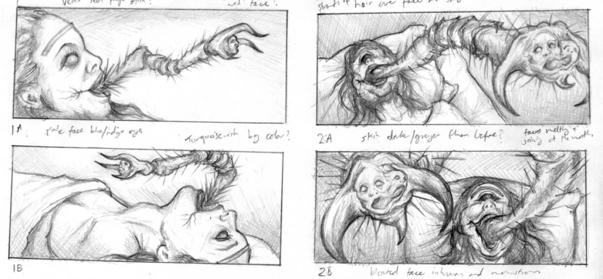 """""""Przebudzenie"""" - szkice koncepcyjne """"Mary Monster"""" - autor Vincent Chong - obrazek"""
