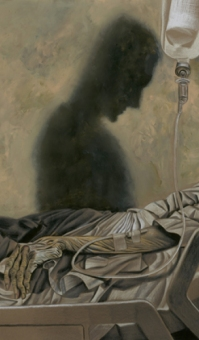 Nocna Zmiana - Dave McKean - Kobieta na sali - obrazek