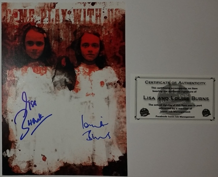 Lisa & Louise Burns - autografy z certyfikatem COA