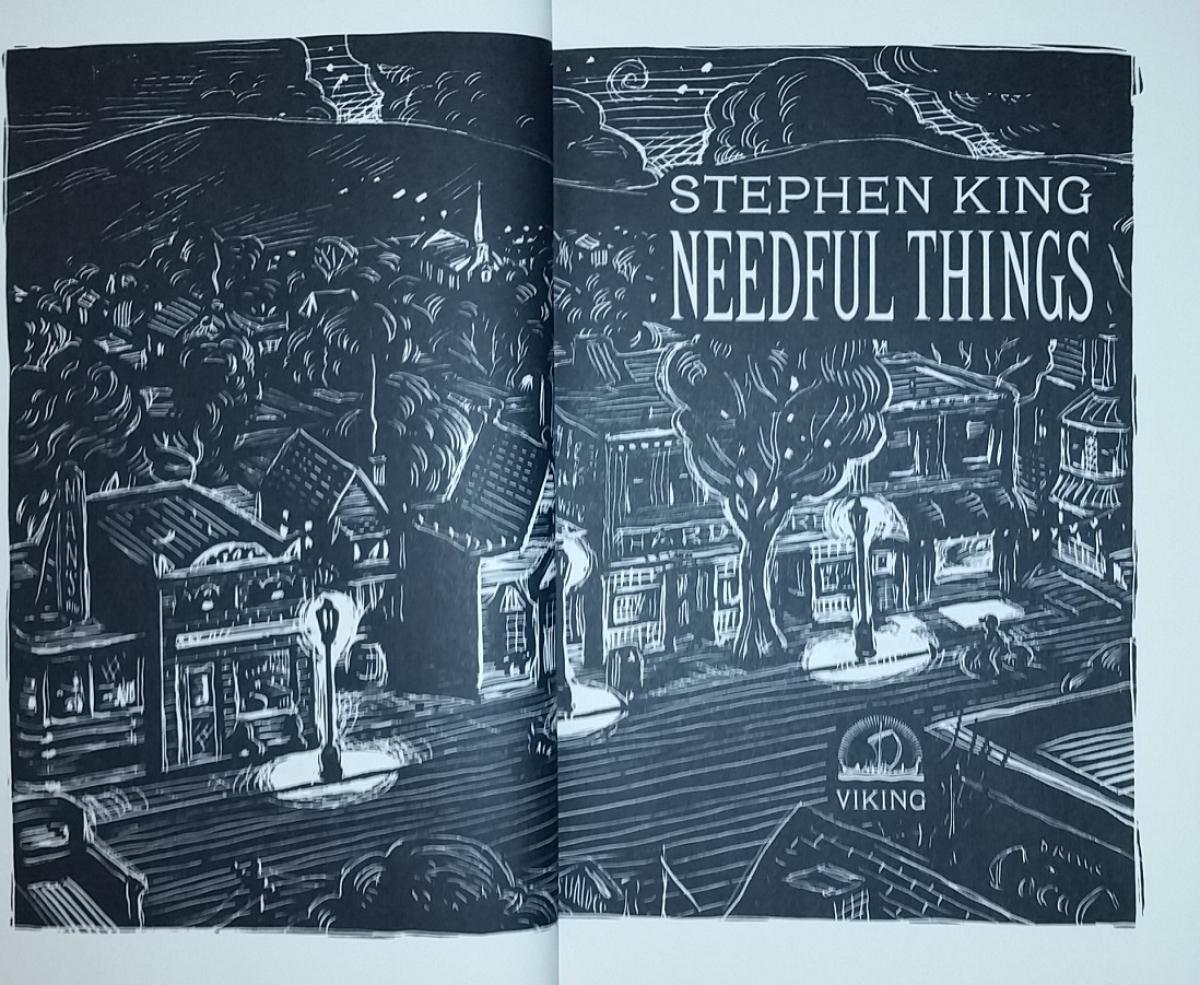 """""""Needful Things"""" - ilustracja na wyklejce - obrazek"""