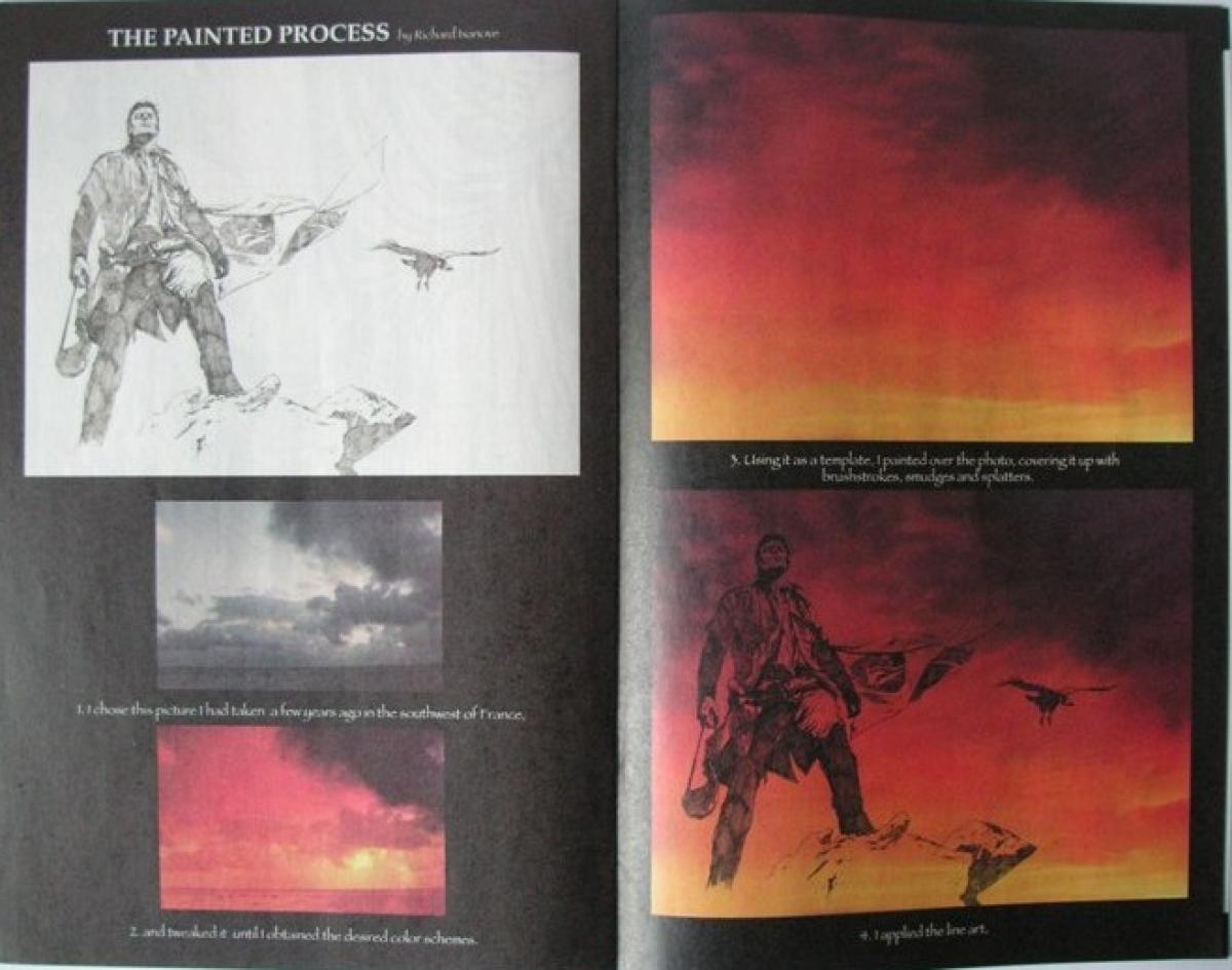 """""""The Dark Tower: Sketchbook"""" - przykładowa strona - obrazek"""