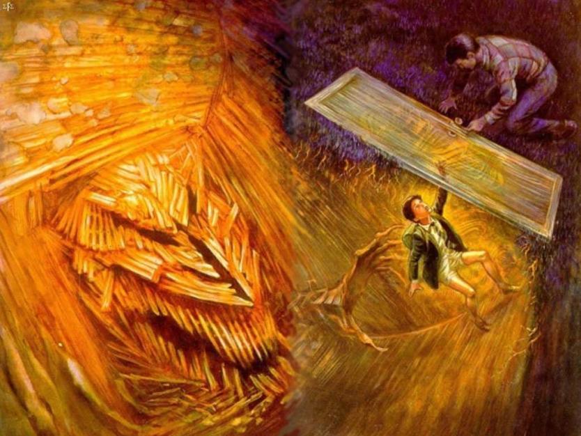The Plaster Man Roared - Ilustracja Neda Damerona