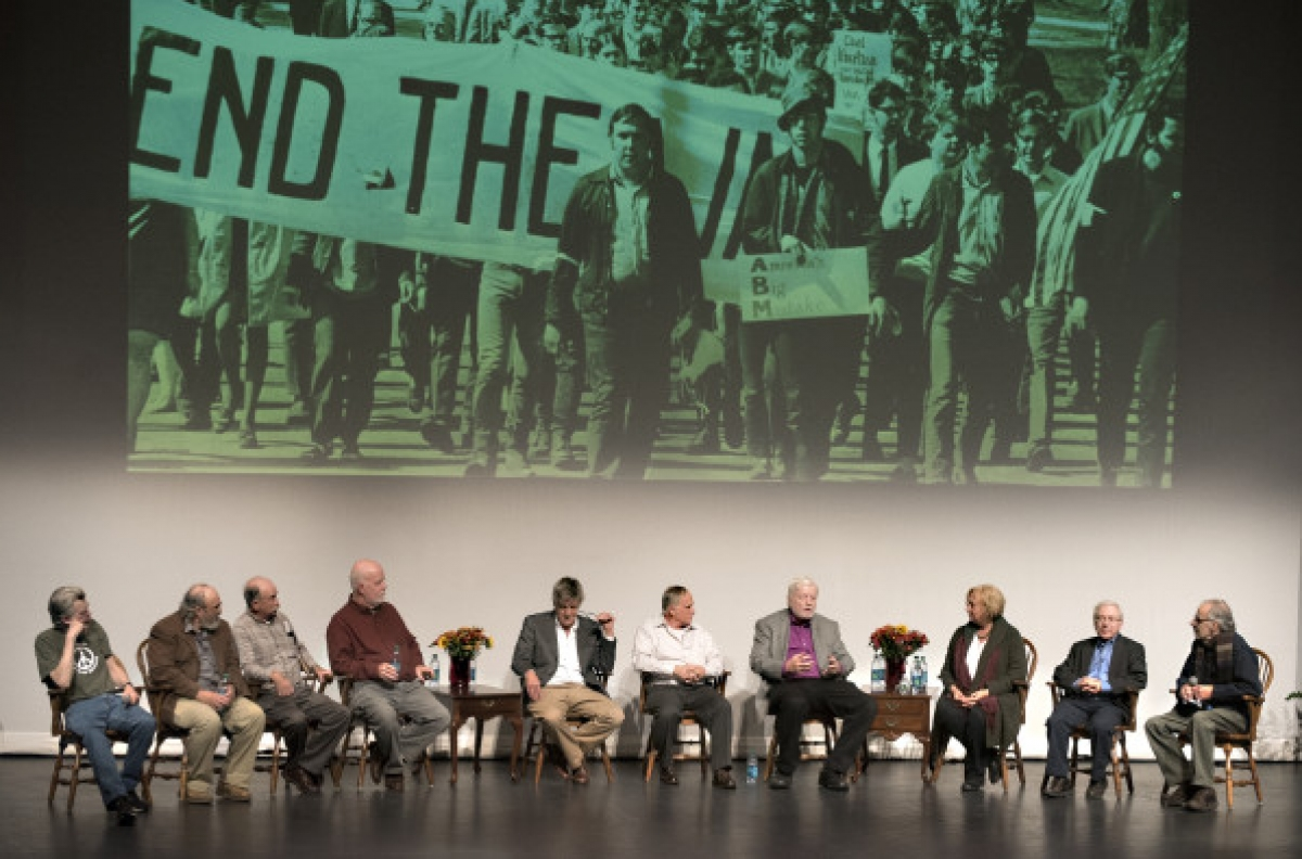 Goście spotkania na Uniwersytecie Maine (zdjęcie Gabor Degre) - obrazek
