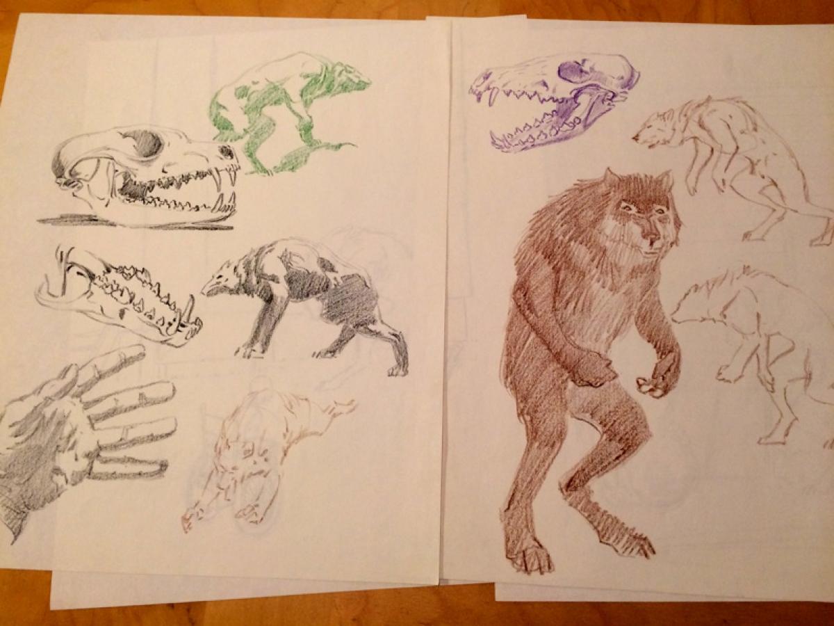 Cycle of Werewolf - szkice - obrazek