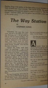 Fantasy & Science Fiction 4 1980 strona tytułowa noweli The Way Station