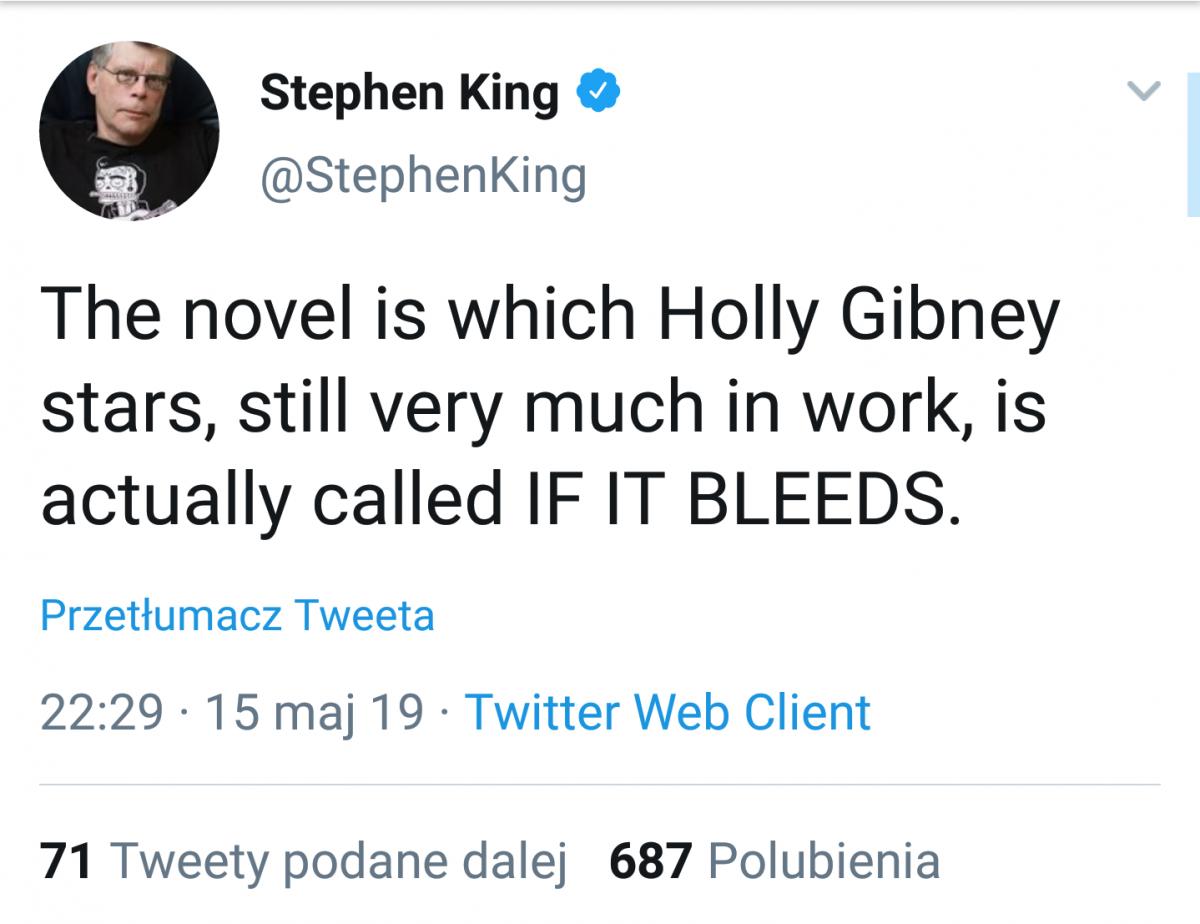 If It Bleeds - Stephen King na twitterze - obrazek