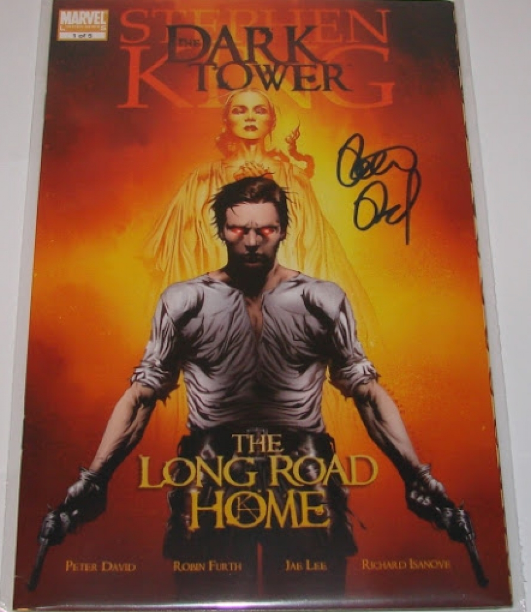 """The Dark Tower: The Long Road Home #1"" - autograf Petera Davida - obrazek"