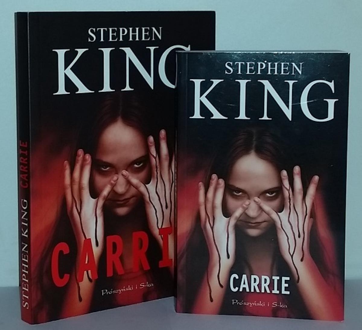 """""""Carrie"""" - książka w wydaniu standardowym i kieszonkowym - obrazek"""