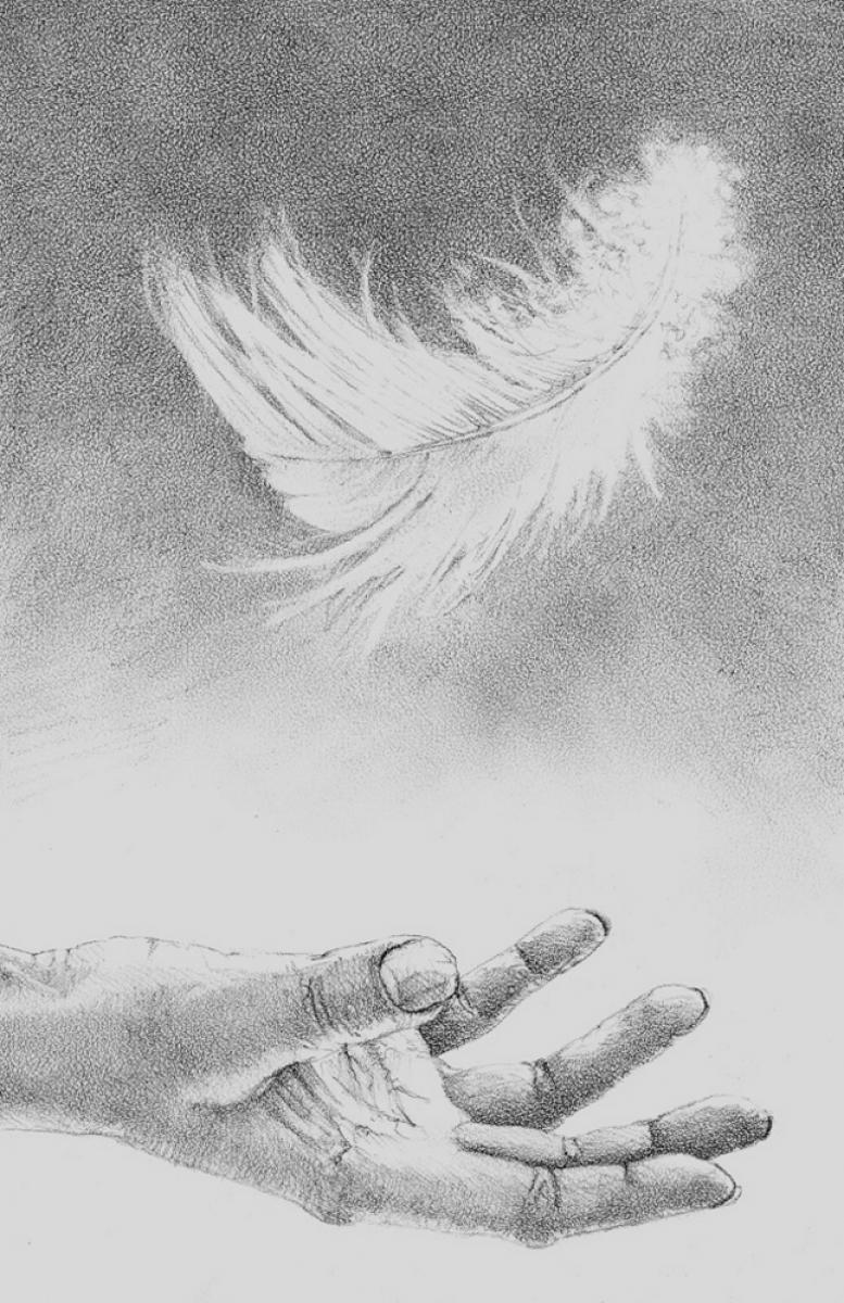 """""""Gwendy's Magic Feather"""" - przykładowa ilustracja Keitha Minniona - obrazek"""