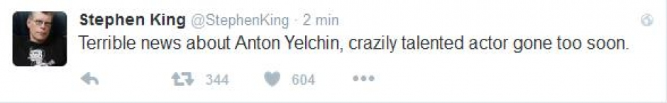 Stephen King o Antonie Yelchinie