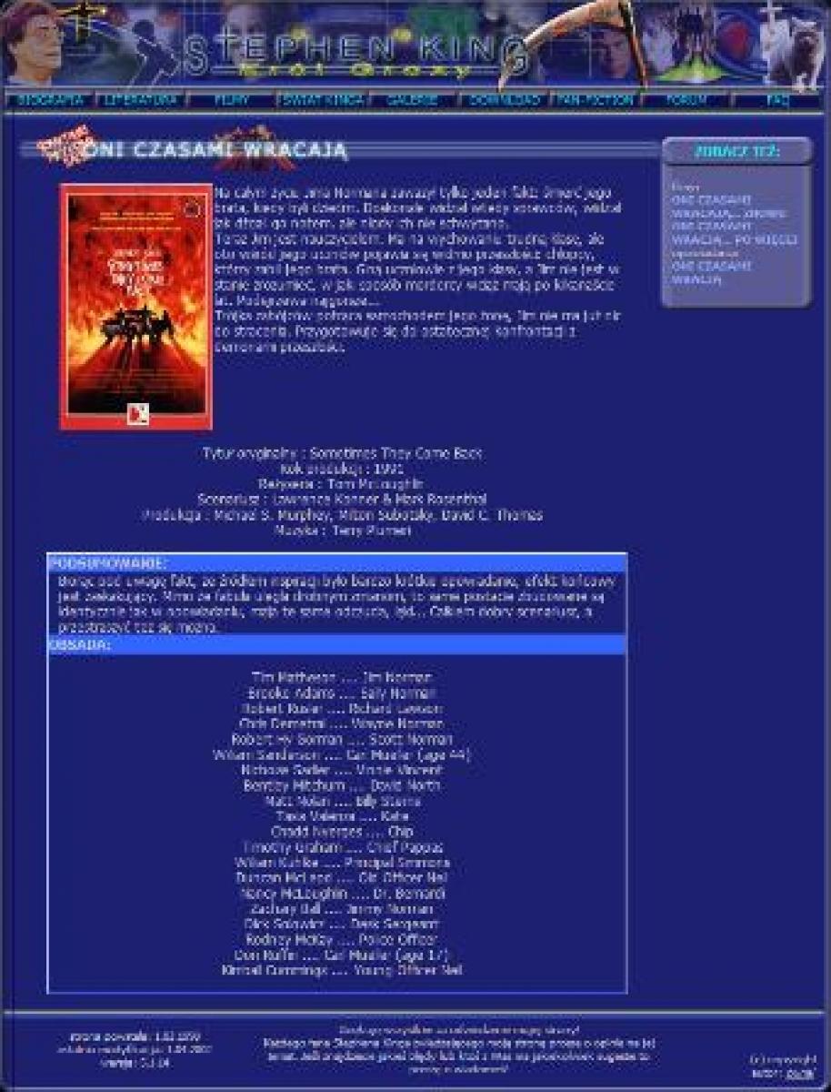 """""""Stephen King - Król Grozy"""" - całkowicie przebudowany serwis - obrazek"""