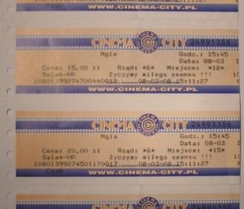 Mgła - bilety kinowe - obrazek