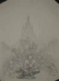 Wilki z Calla Mariusz Gandzel - szkic i ilustracja - obrazek