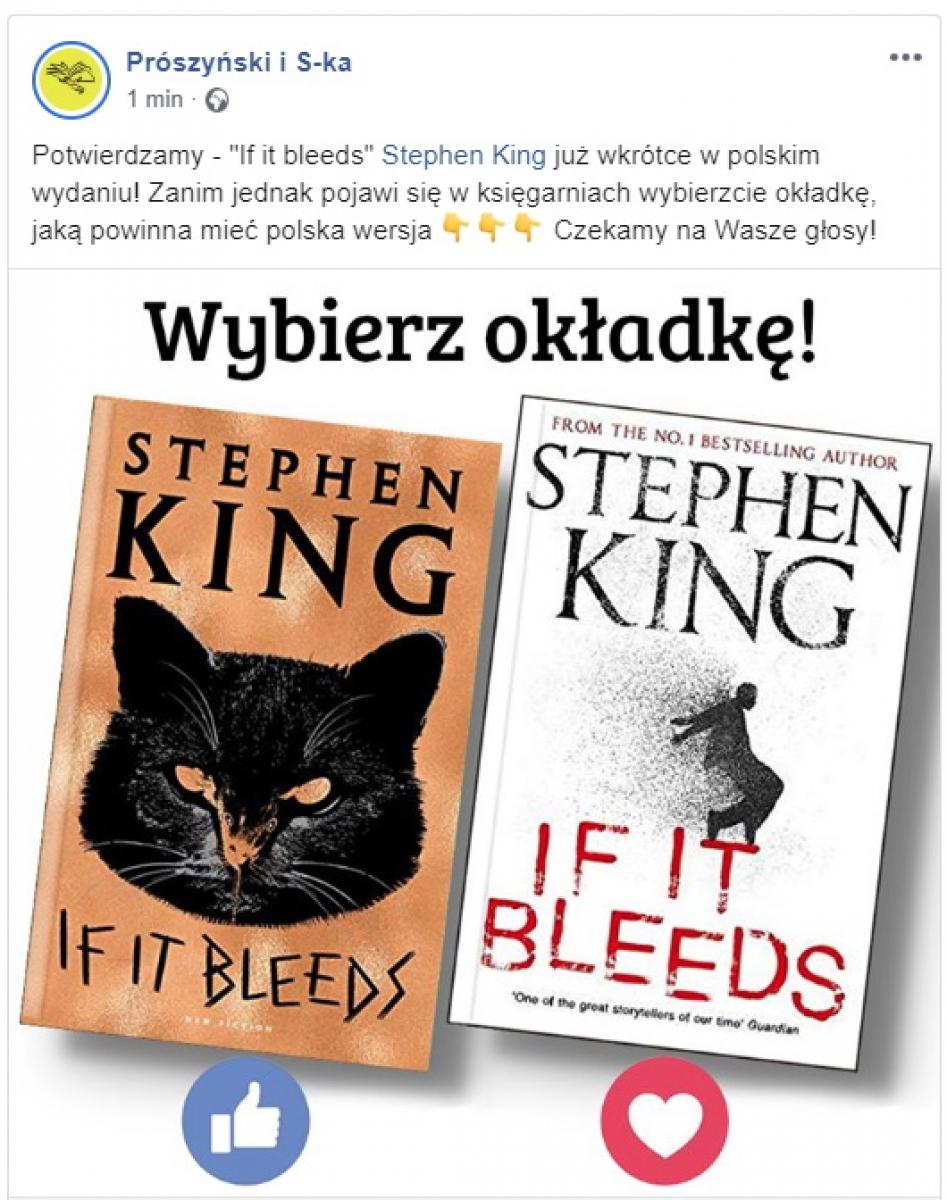 """Prószyński i S-Ka wyda """"If it Bleeds"""" - obrazek"""