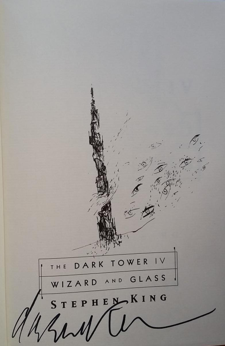 """The Dark Tower IV: Wizard and Glass"" - autograf Dave'a McKeana - obrazek"