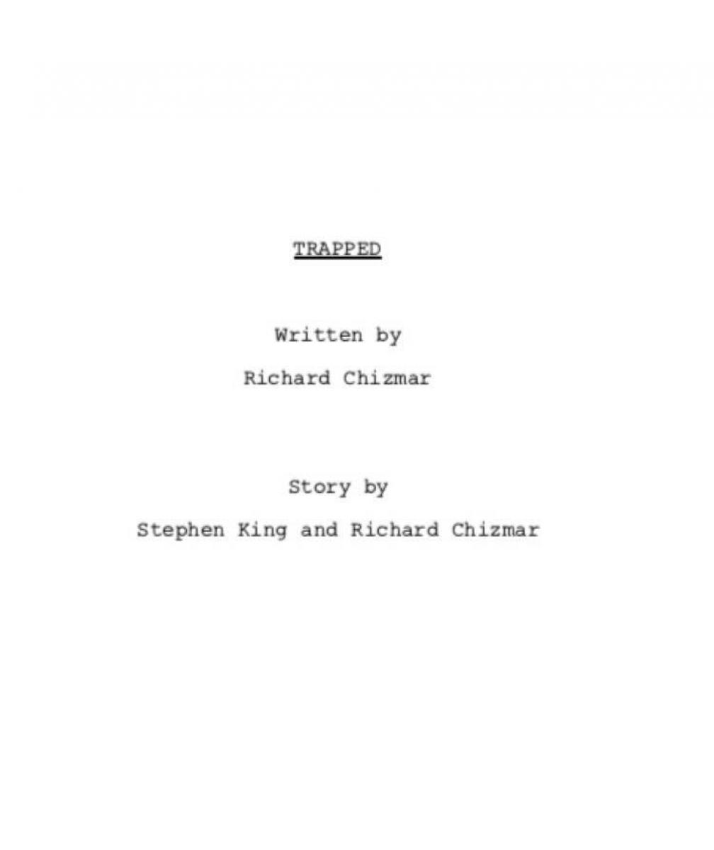 """""""Trapped"""" - strona tytułowa scenariusza - obrazek"""