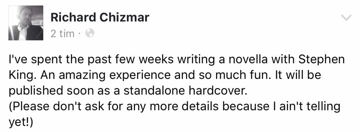 Richard Chizmar na FB - obrazek