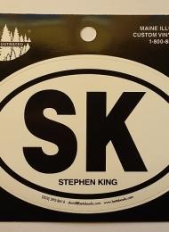 SK Stephen King - naklejka z Betts Books - obrazek
