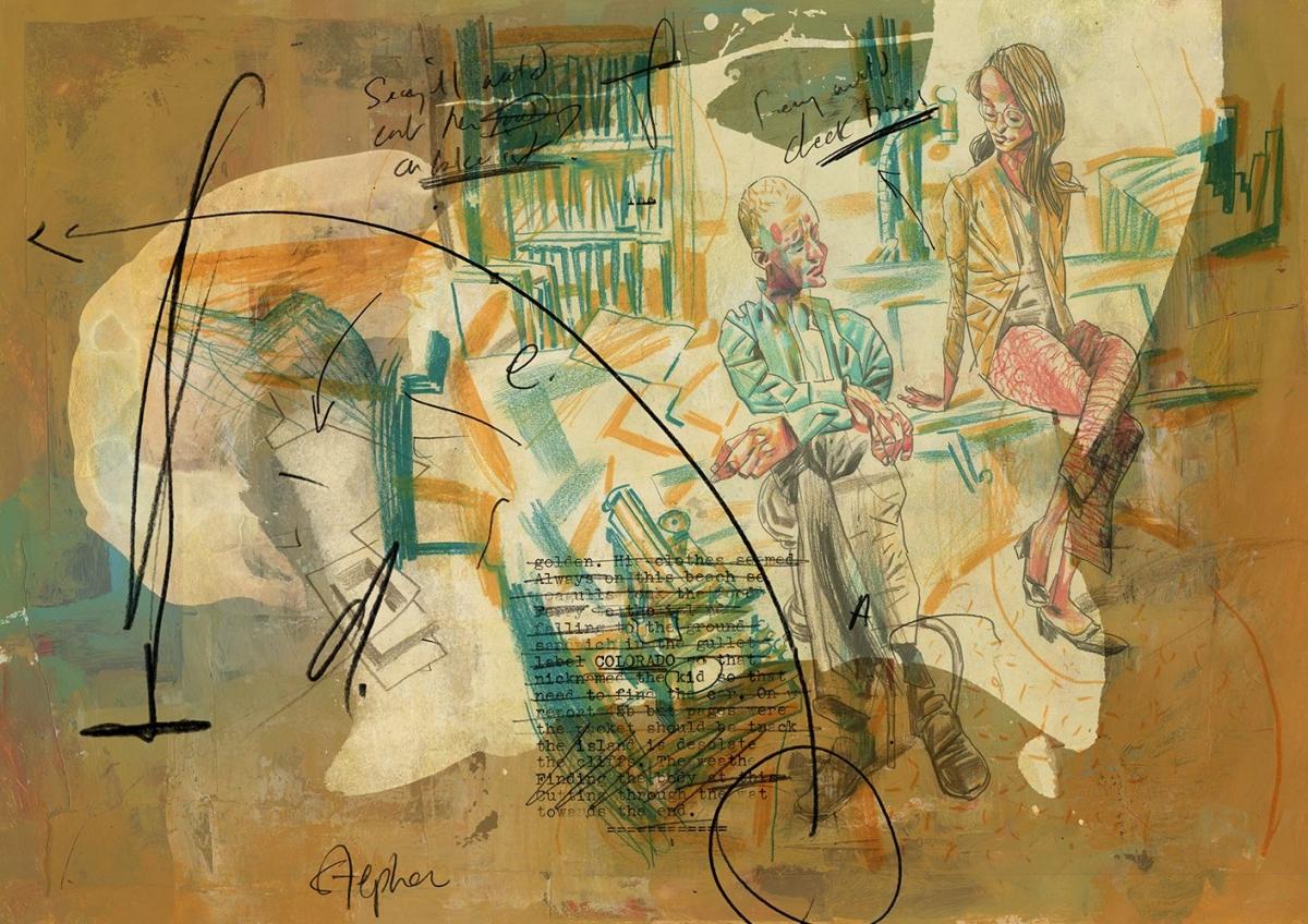 """The Colorado Kid"" - kolorowa ilustracja Dave McKean - obrazek"